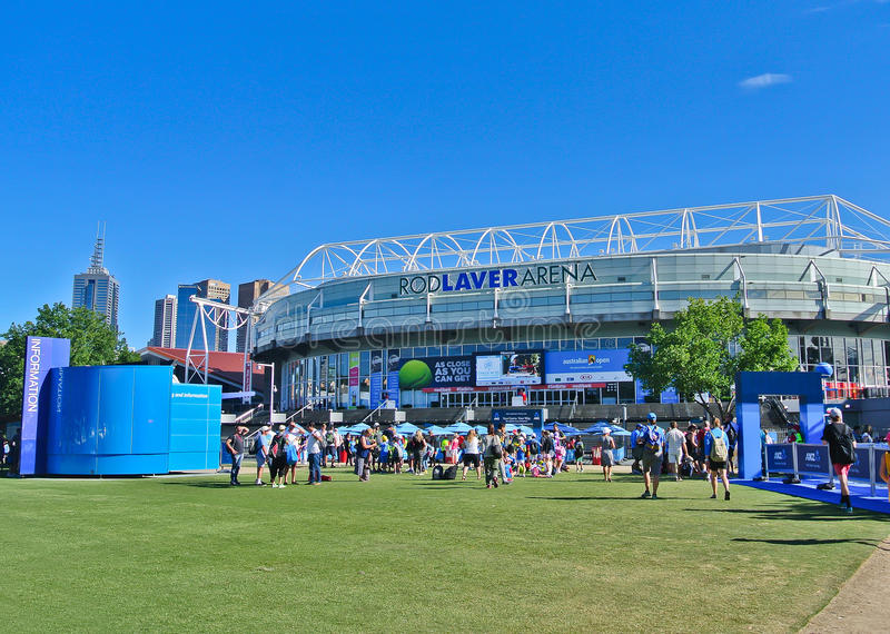 Parc de Melbourne pendant l'open d'Australie images stock