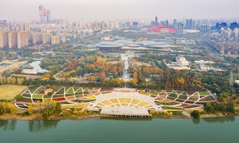 Parc de Nanjing Binjiang photographie stock