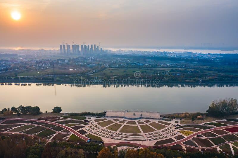 Parc de Nanjing Binjiang photographie stock libre de droits
