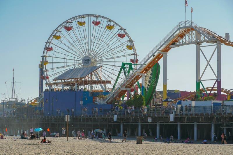 Parc de Pacifique, un parc d'attractions de famille sur Santa Monica Pier Los Angeles, la Californie, Etats-Unis images stock