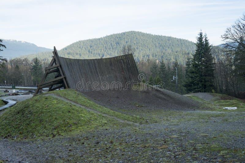Parc de qualifications de bicyclette sur la montagne de Burnaby images stock