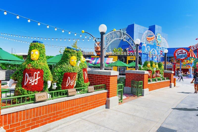 Parc de renommée mondiale Universal Studios à Hollywood photographie stock