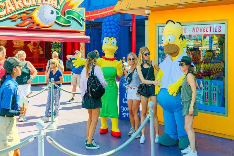 Parc de renommée mondiale Universal Studios à Hollywood images stock