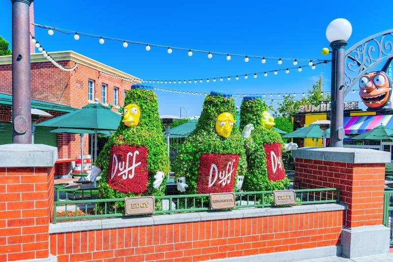 Parc de renommée mondiale Universal Studios à Hollywood images libres de droits