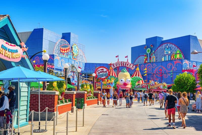 Parc de renomm?e mondiale Universal Studios ? Hollywood photo stock