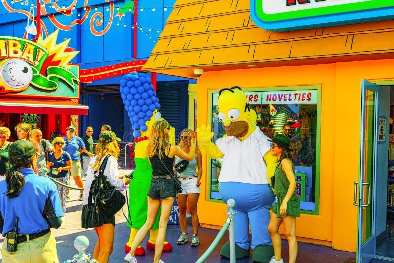 Parc de renomm?e mondiale Universal Studios ? Hollywood images stock