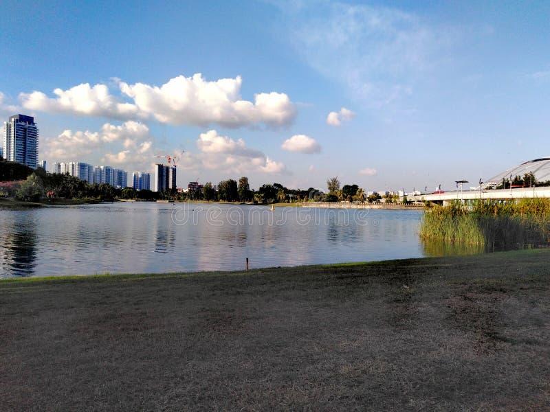 Parc de rive de Kallang à Singapour photos libres de droits