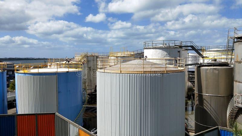 Parc de silo au bord de mer d'Auckland images stock