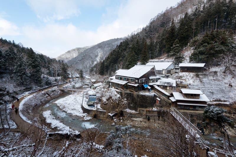 Parc de singe de neige, Yamanouchi, Japon images libres de droits
