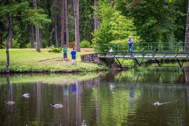 Parc de Sparites dans Gulbene, Lettonie photographie stock
