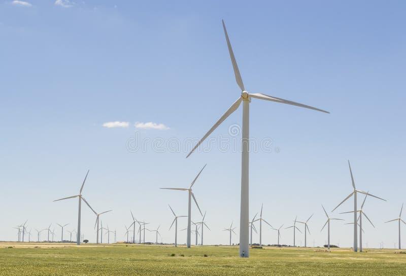 Parc de turbine de vent images libres de droits
