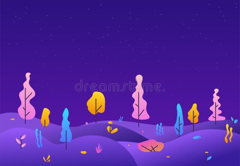 Parc de ville dans des couleurs de gradient illustration stock