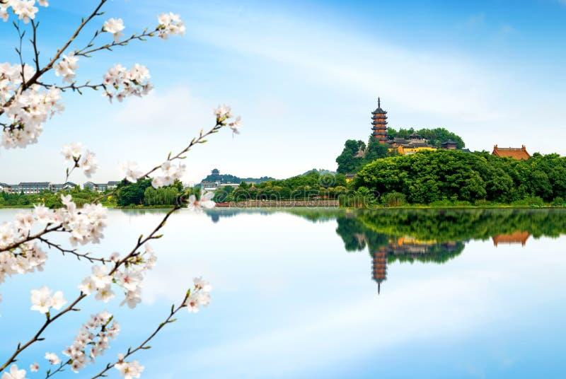 Parc de Zhenjiang Jinshan photos libres de droits