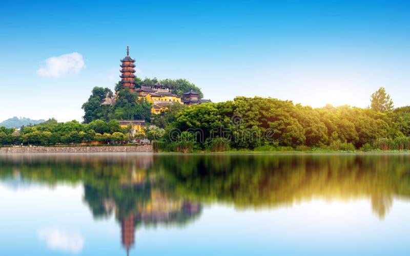 Parc de Zhenjiang Jinshan images libres de droits