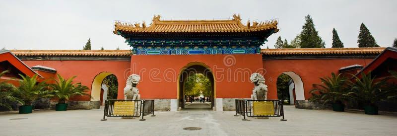 Parc de Zhongshan : Porte et lions chinois images stock