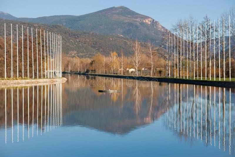 Parc del Segre στοκ φωτογραφία