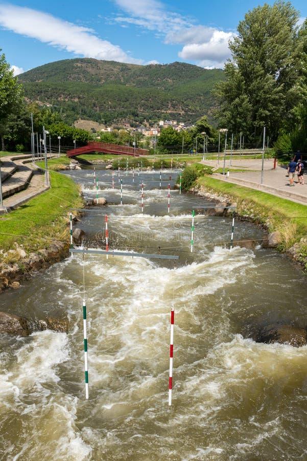 Parc del Segre Segre Park of La Seu de Urgell, Catalonia, Spain royalty free stock images