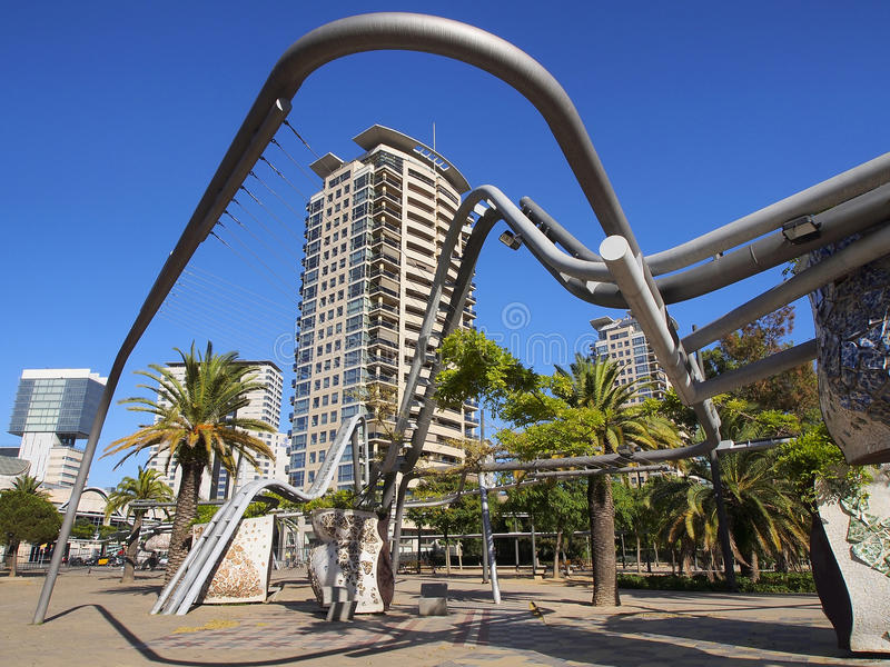 Parc diagonal de mars, Barcelone, Espagne photographie stock
