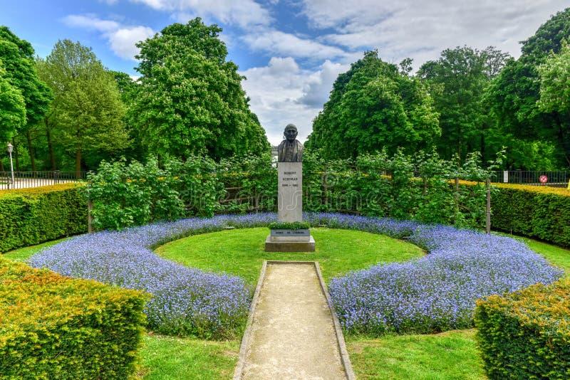 Parc du五十周年纪念公园-布鲁塞尔,比利时 免版税图库摄影