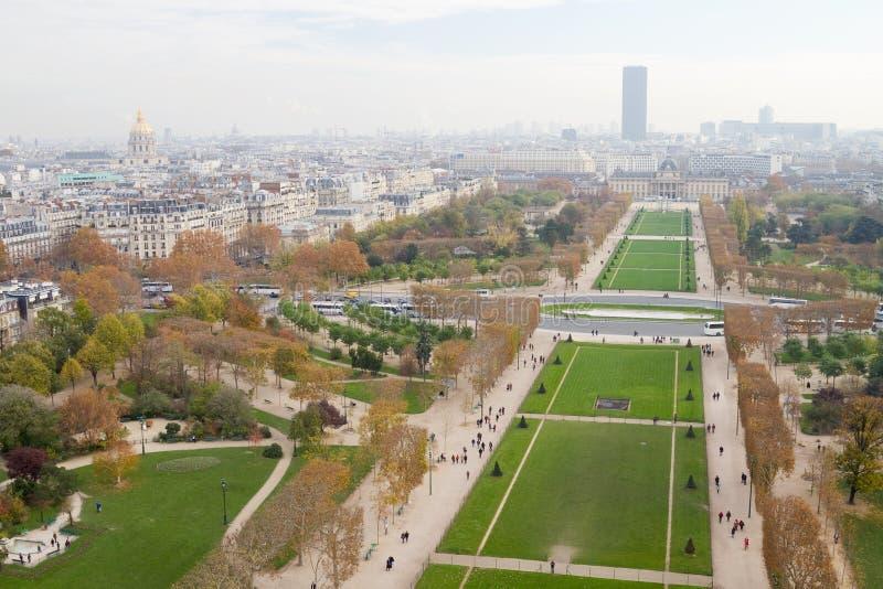 Parc DU Champ de Mars, Paris stockfotos