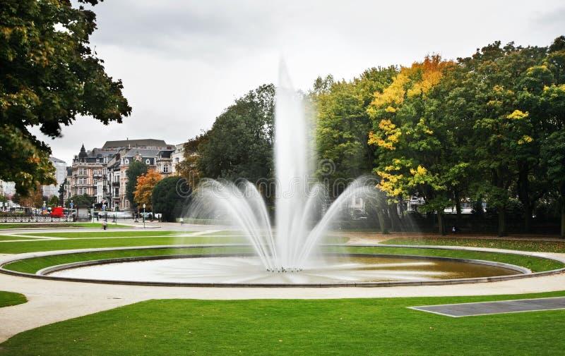 Parc Du Cinquantenaire †'Jubelpark brussels Belgia zdjęcie stock