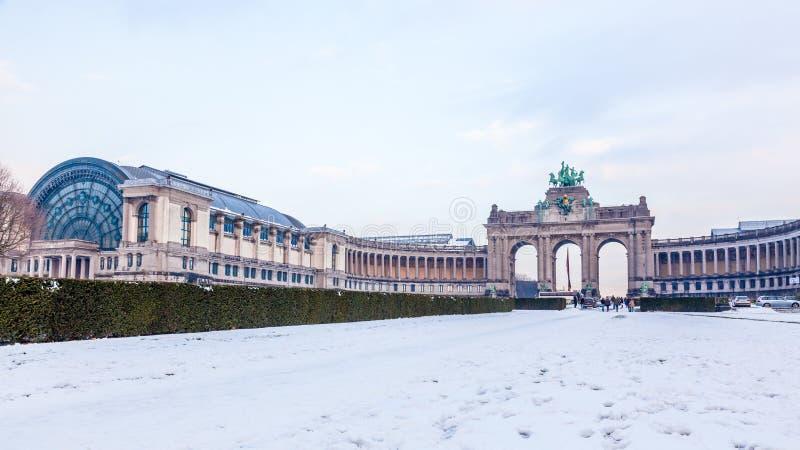 Download Parque De Cinquantenaire Ou De Jubel Em Bruxelas, Bélgica. Foto de Stock - Imagem de famoso, belga: 29831828
