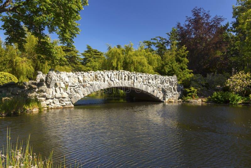 Parc en pierre Victoria Vancouver Island de Beacon Hill de pont photos libres de droits