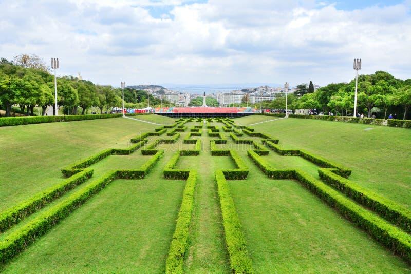 Parc et jardins d'Eduardo VII à Lisbonne photographie stock libre de droits