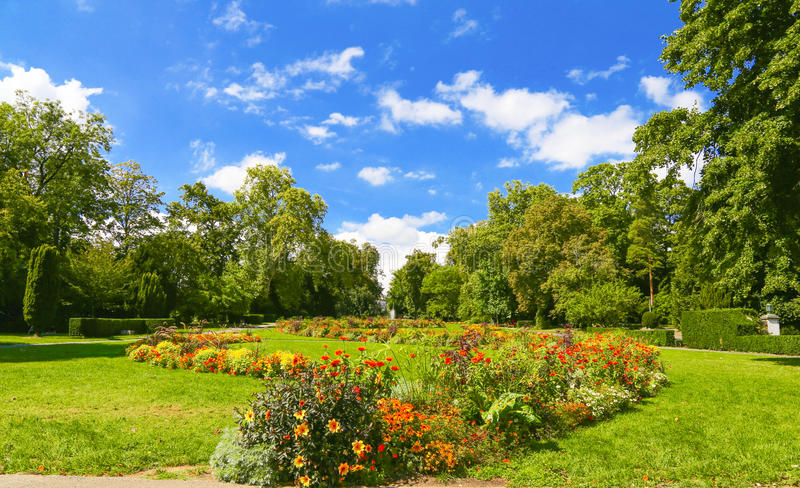 Parc in Genf lizenzfreies stockbild