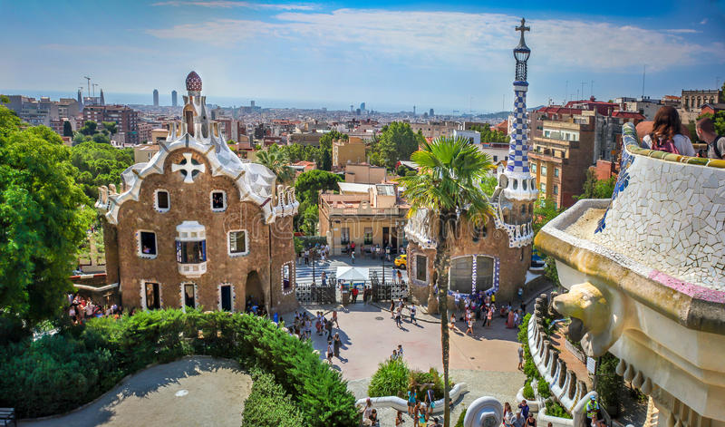 Parc Guel royalty free stock photo