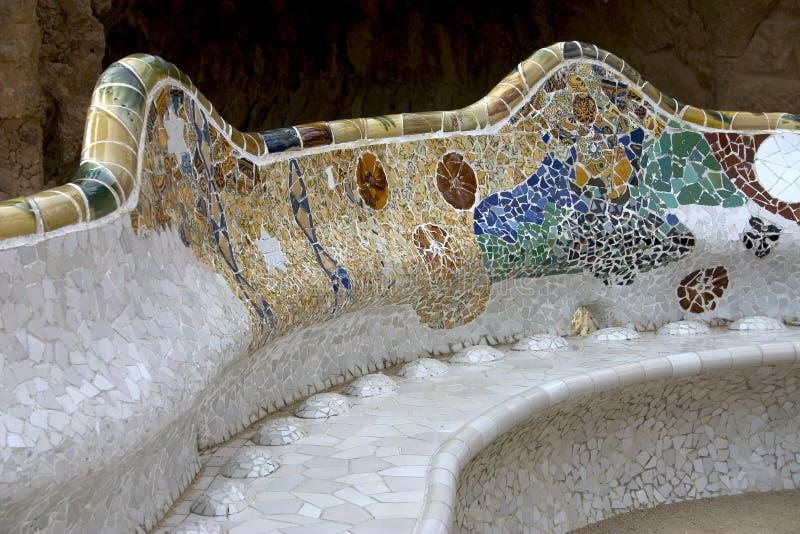 Parc Guell 05, Barcellona, Spagna fotografie stock libere da diritti