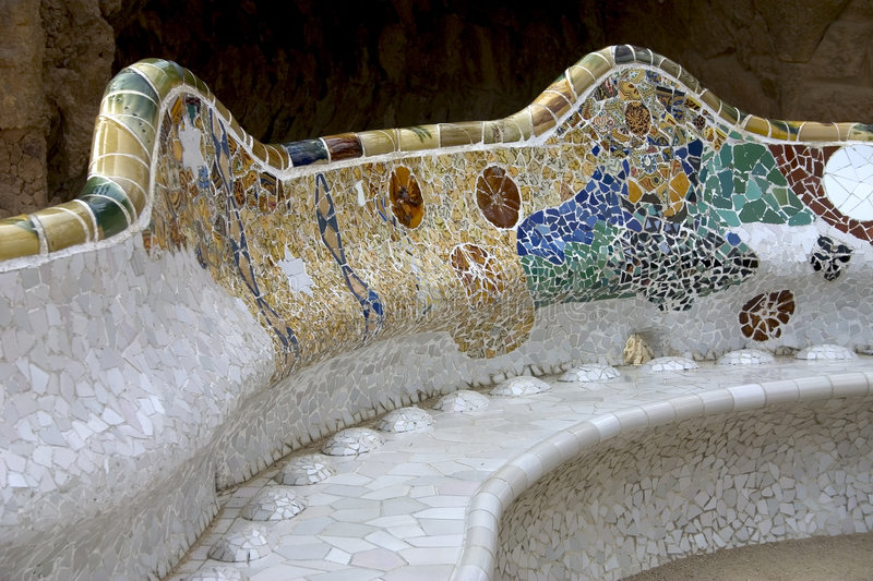 Parc Guell 05, Barcelona, Spain royalty free stock photos