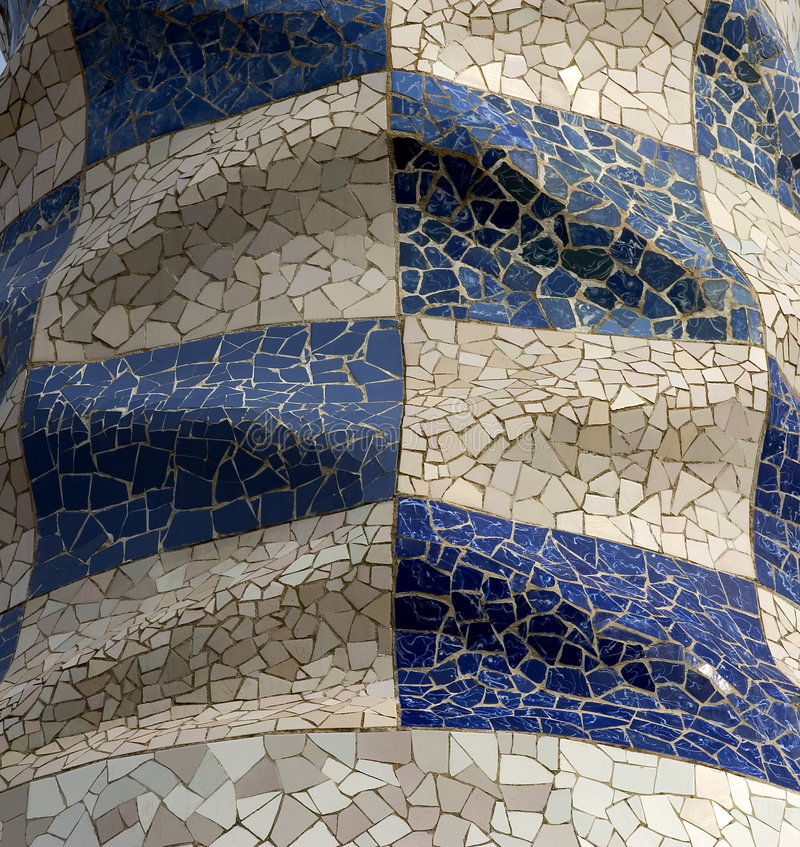 Parc Guell 11, Barcelona, Spain stock images