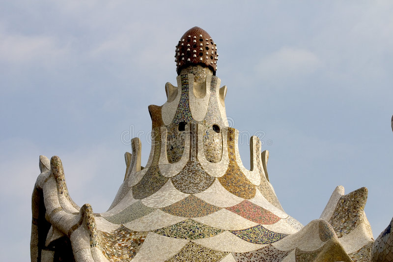Parc Guell 12, Barcelone, Espagne photos stock