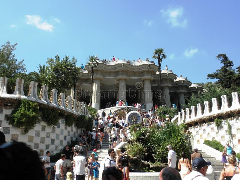 Parc Guell immagini stock