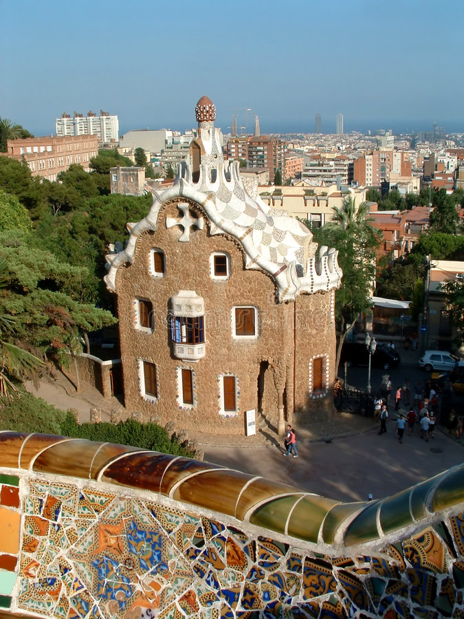 Parc Guell royalty-vrije stock afbeelding