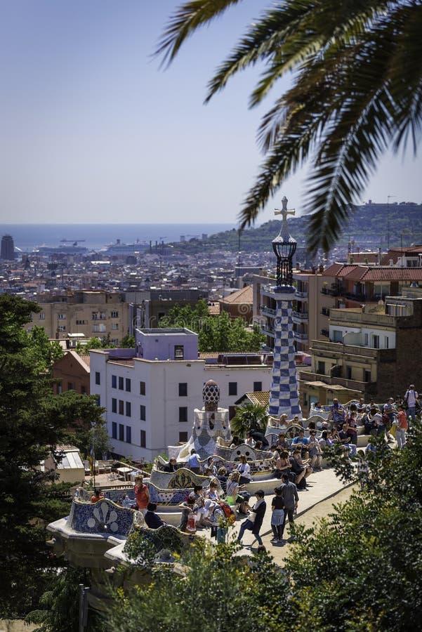 Parc Guell Barcelona stockbilder
