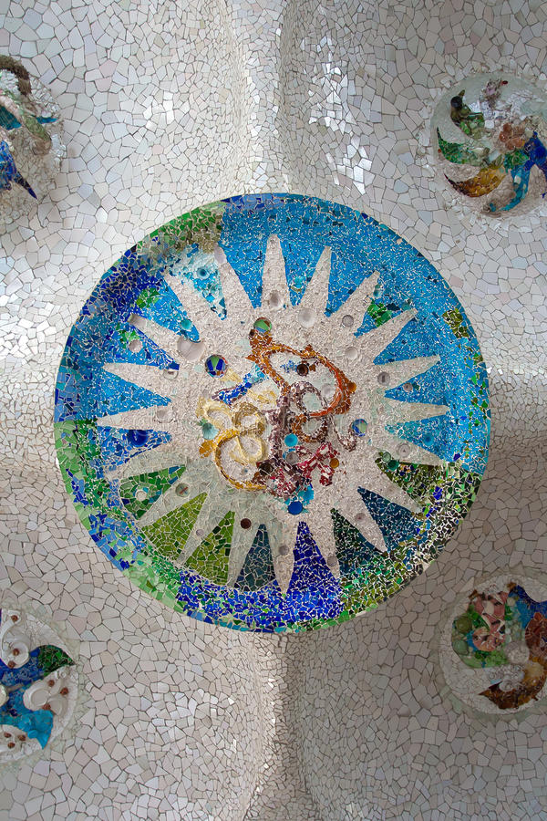 Parc Guell Barcelona royalty-vrije stock fotografie