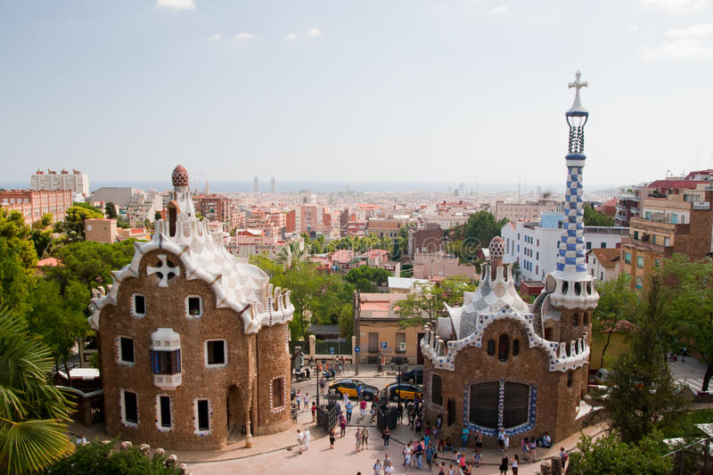 Download Parc Guell And Barcelona Aerial View Editorial Photography - Image of house, housing: 26619557