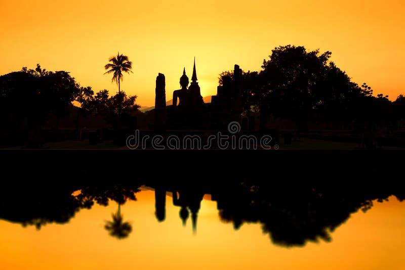 Parc historique de Sukhothai. Ruines de temple bouddhiste en parc historique de Sukhothai photographie stock libre de droits