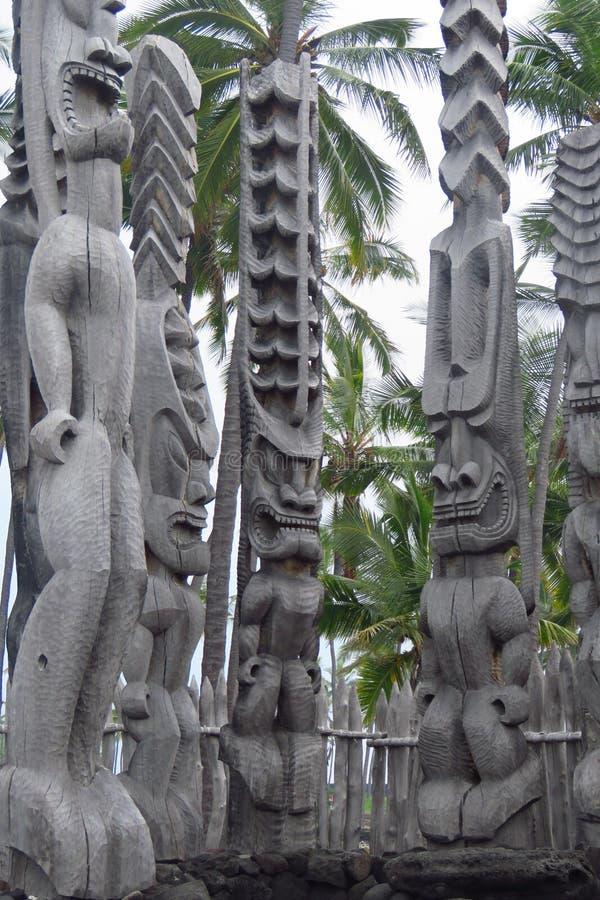 Parc historique national de Puuhonua o Honaunau, grande île, Hawaï image libre de droits