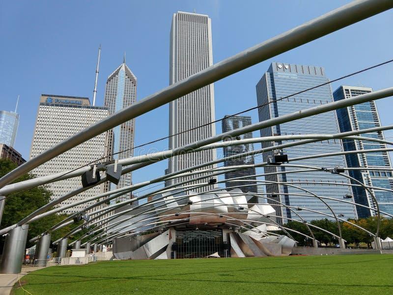 Parc Jay Pritzker Pavilion de millénaire de Chicago photographie stock