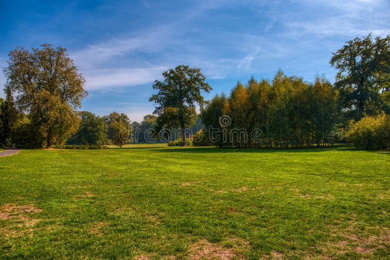 Parc Libochovice de château photo libre de droits