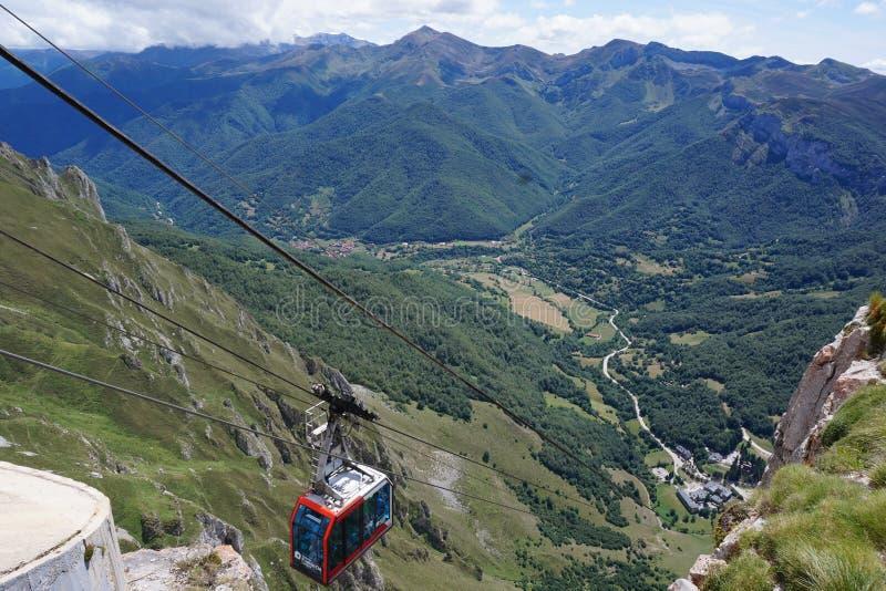 Parc Nacional DE Picos DE Europa bij Baskisch Land, Noordelijk Spanje royalty-vrije stock foto's