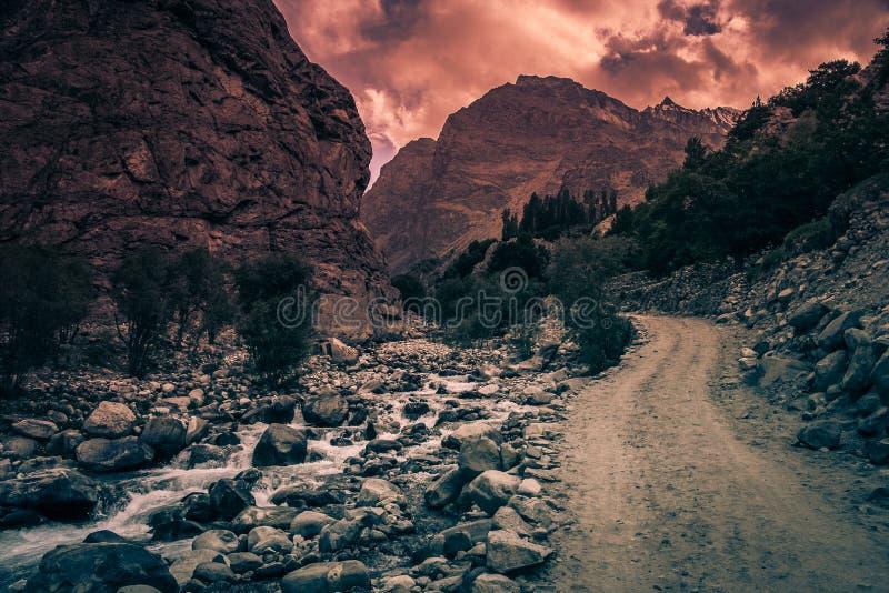 Parc national central de Karakorum image stock
