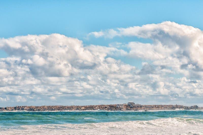 PARC NATIONAL DE CÔTE OUEST, AFRIQUE DU SUD, LE 20 AOÛT 2018 : Une vue de l'Océan Atlantique chez Tsaarsbank dans Postberg près d photo libre de droits