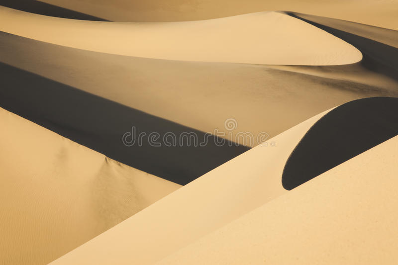 Parc national de Death Valley de dunes de sable photos libres de droits