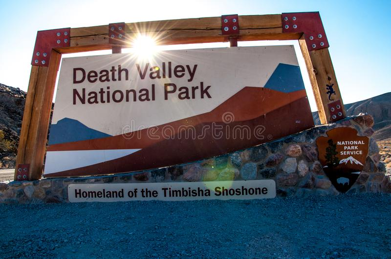 PARC NATIONAL DE DEATH VALLEY - 7 SEPTEMBRE 2015 image libre de droits