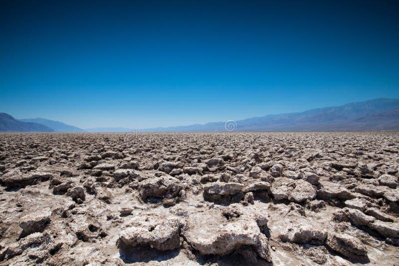 Parc national de Death Valley de terrain de golf de diables, la Californie images stock