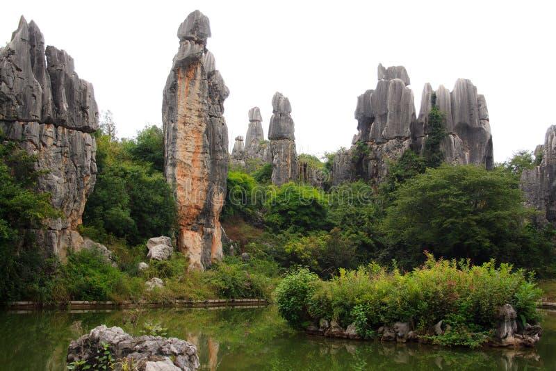 Parc national de forêt de Shi Lin Stone dans la province de Yunnan, Chine images libres de droits